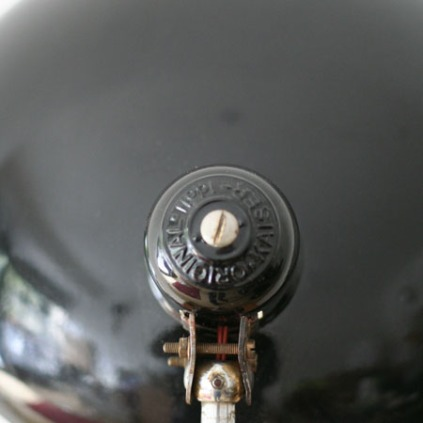 Schreibtischlampe Rückseite oben
